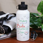Personalized It Takes A Lot Of Balls Water Bottle