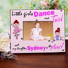 Personalized Dance and Twirl Ballerina Printed Frame