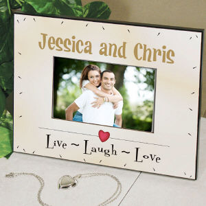 Personalized Live Laugh Love Printed Frame