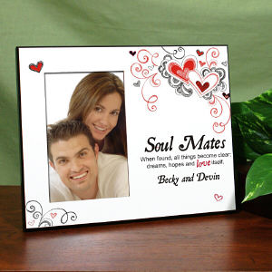 Personalized Soul Mates Printed Frame