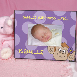 Personalized Monkey Printed Frame