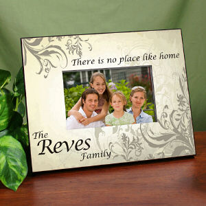 No Place Like Home Personalized Printed Frame
