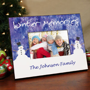 Personalized Winter Welcome Printed Frame