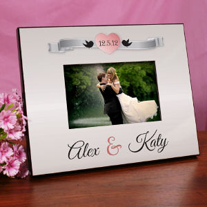 Personalized Love Birds Printed Frame