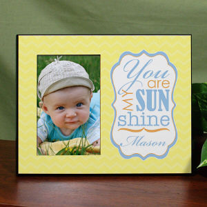 Personalized You Are My Sunshine Printed Frame