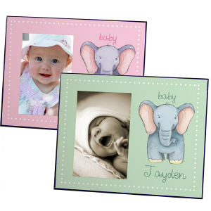 Personalized Baby Elephant Printed Frame