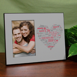 Personalized Heart Printed Picture Frame