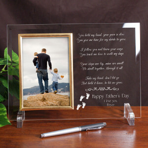 Following In Your Footsteps Personalized Father's Day Beveled Glass Frame