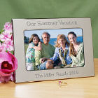 Personalized Vacation Silver Picture Frame