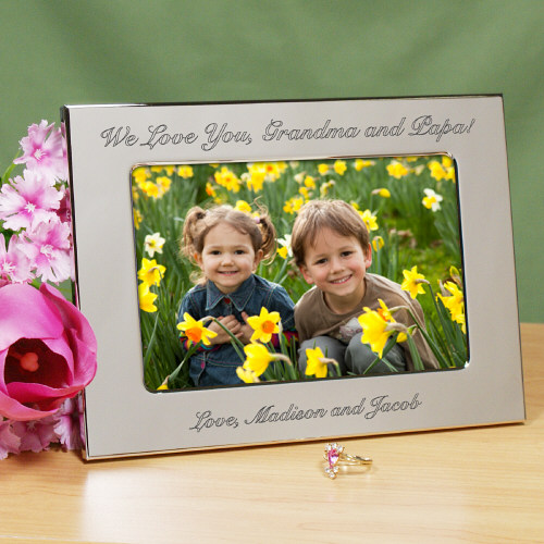 Engraved Custom Message Silver Picture Frame 8534830