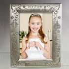 Engraved Silver First Communion Frame