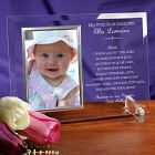 Engraved A Godparent's Promise Beveled Glass Picture Frame