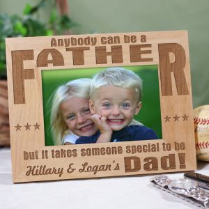 Personalized Dad Wood Frame