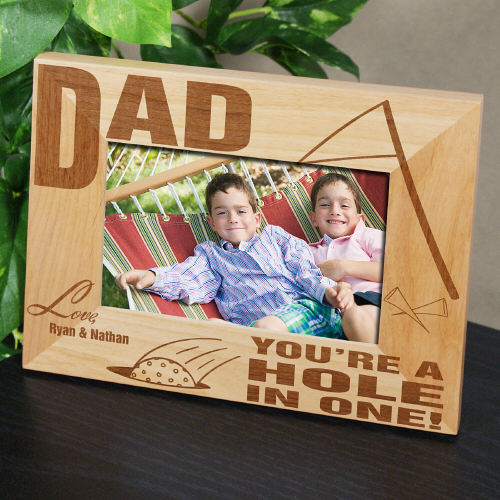 A Hole In One Wood Picture Frame | Personalized Wood Picture Frames