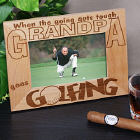 Go Golfing Wood Picture Frame