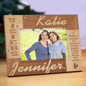 Sisters Personalized Wooden Picture Frame | Personalized Wood Picture Frames