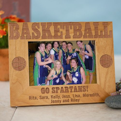 Engraved Basketball Wood Picture Frame 925581