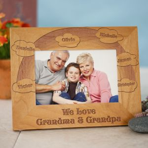 Engraved We Love Picture Frame | Personalized Gifts For Grandparents