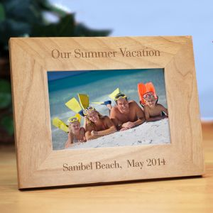 Personalized Vacation Wood Picture Frame | Personalized Picture Frames