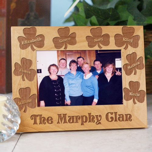 Personalized Irish Family Wood Picture Frame | Personalized Wood Picture Frames