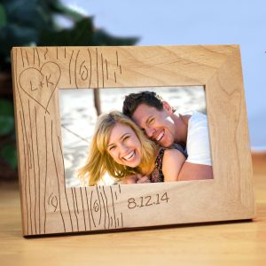 Engraved Tree Carving Wood Frame