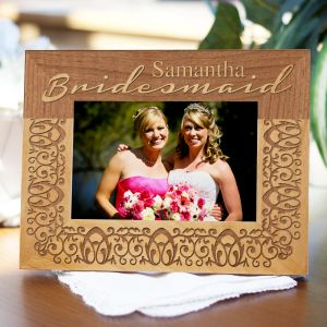 Engraved Bridal Party Wood Picture Frame 97677X