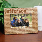 Engraved Family Name Wood Picture Frame