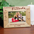 Without Friends To Share Wood Picture Frame