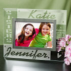 Sisters Personalized Glass Picture Frame