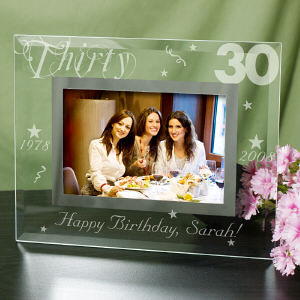 Personalized Birthday Glass Picture Frame
