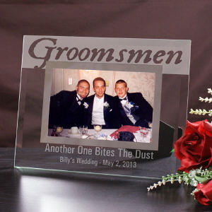 Engraved Groomsmen Glass Picture Frame