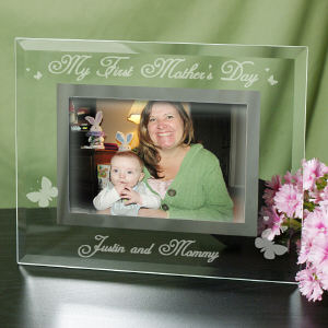 Engraved My First Mother's Day Glass Frame | Personalized Picture Frames