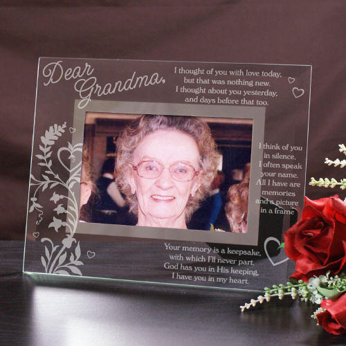 Engraved Memorial Glass Picture Frame G933861