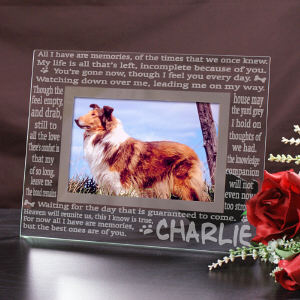 Engraved Memories Pet Memorial Glass Frame  | Personalized Picture Frames