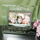 Engraved All Our Hearts Glass Picture Frame