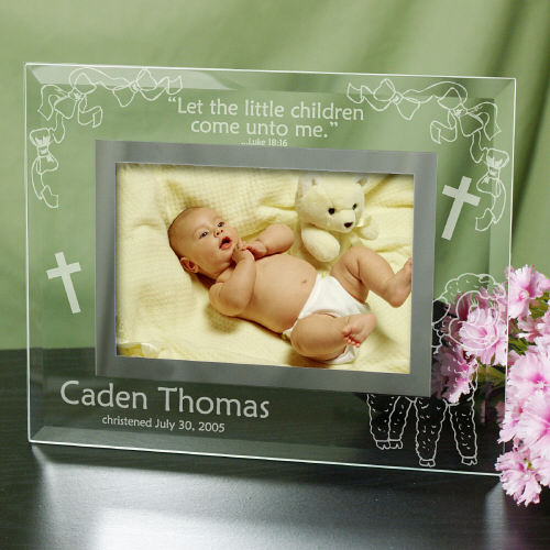 Engraved New Baby Glass Picture Frame G98141