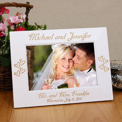 Engraved Mr. and Mrs. Wedding Frame | Personalized Picture Frames