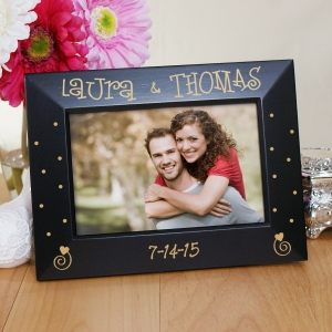 Engraved Couples Black Frame