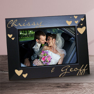 Engraved Just The Two Of Us Black Frame L722817x
