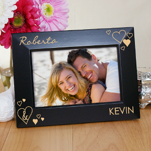 Engraved Just the Two Of Us Black Frame