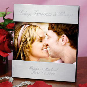 Engraved Love Silver Picture Frame