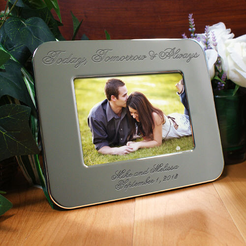 Engraved Wedding Silver Picture Frame | Personalized Picture Frames