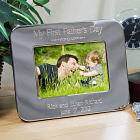 Engraved First Father's Day Silver Picture Frame