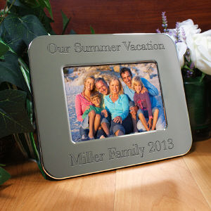 Engraved Vacation Silver Picture Frame M30392X