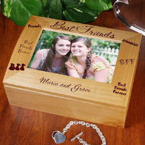 Personalized Best Friends Photo Keepsake Box | Personalized Keepsake Box