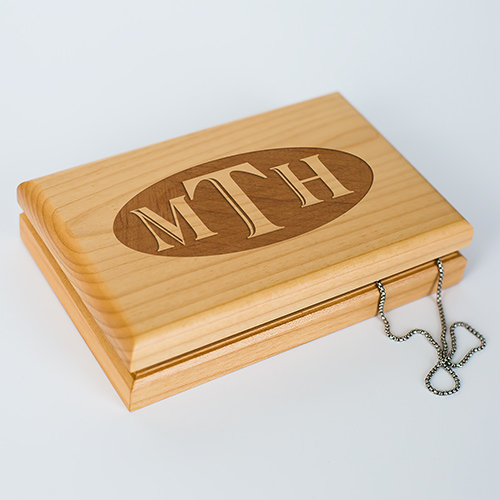 Engraved Monogram Initials Valet Box | Personalized Valet Box