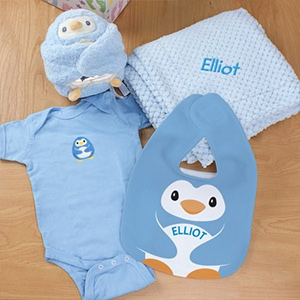 Personalized New Baby Boy Gift Basket G79115X