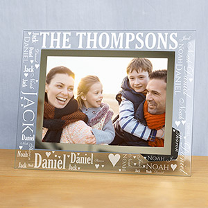 Family Word-Art Glass Frame