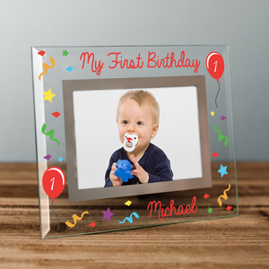 Personalized My First Birthday Glass Frame | Personalized Happy Birthday Picture Frames