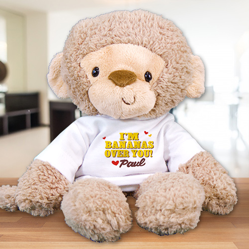 Personalized Bananas Over You Monkey | Valentine Day Teddy Bears